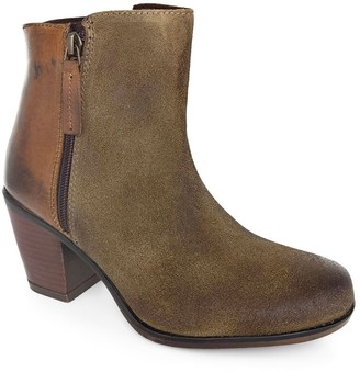 ROAN Leather Combo Side Zip Boots - Lina