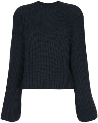 Rosetta Getty Cropped Back Pullover