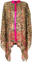 Etro leopard print draped top