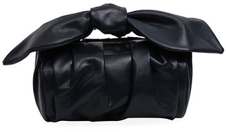 REJINA PYO Nane Knotted Leather Barrel Bag
