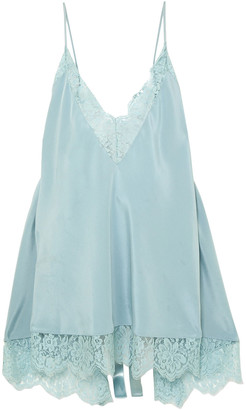 Stella McCartney Open-back Chantilly Lace-trimmed Silk Camisole