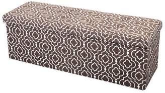 "Bungalow Rose Chani Storage Ottoman Fabric: Moroccan Gray, Size: 15"" H x 30"" W x 15"" D"