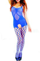 Cathery Women's Sexy Lingerie Fishnet Open Crotch Body Stocking Bodysuit Nightwear