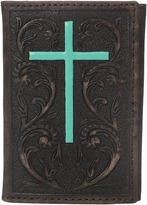 Ariat Embossed Turquoise Cross Tri-Fold Wallet