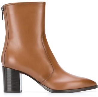Santoni Contrast Heel Ankle Boots