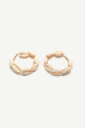 Ardene Shell Hoop Earrings