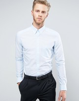 Reiss Slim Smart Shirt In Fine Stripe
