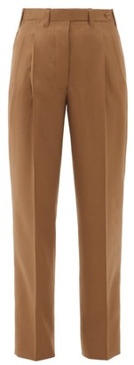 Giuliva Heritage Collection The Cornelia High-rise Wool Trousers - Brown
