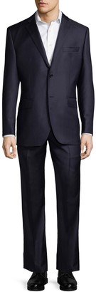 Saks Fifth Avenue Classic Fit Two-Piece Stripe Wool Suit