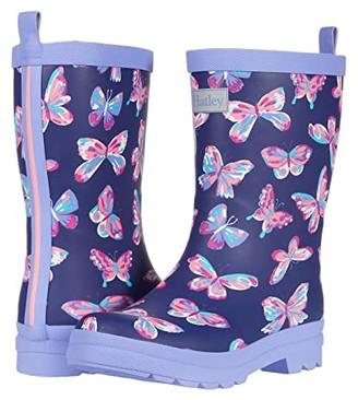 Hatley Butterfly Kaleidoscope Matte Rain Boots (Toddler/Little Kid) (Blue) Girls Shoes