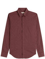 Burberry Slim Fit Printed Silk-Cotton Shirt