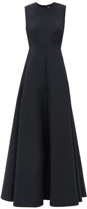 Valentino Sleeveless Cotton-blend Twill Gown - Black