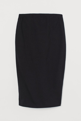 H&M MAMA Cotton Jersey Skirt - Black