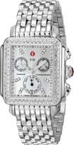 Michele Women's MWW06V000001 Deco 16 Mother-Of-Pearl Dial Watch