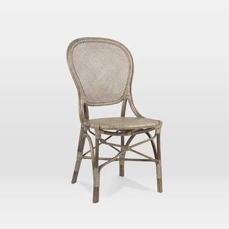west elm Indoor Rattan Cafe Side Chair