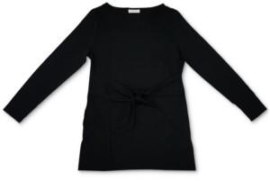 Charter Club Long-Sleeve Tie-Waist Top, Created For Macy's