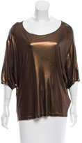 Dries Van Noten Metallic Short Sleeve Top