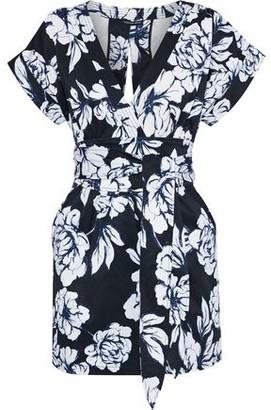 Marissa Webb Luciano Wrap-effect Floral-print Faille Mini Dress