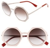 Fendi Women's 51Mm Retro Octagon Sunglasses - Brown