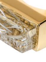 Chloé Bettina embellished rectangular resin ring