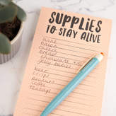 Bread & Jam Supplies To Stay Alive Magnetic Shopping List Pad