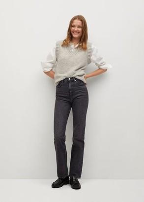 MANGO High waist flare jeans open grey - 1 - Women