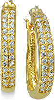 Giani Bernini Cubic Zirconia Pavé Hoop Earrings in 18k Gold-Plated Sterling Silver, Only at Macy's