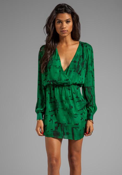 Parker Lila Wrap Dress