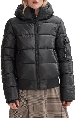 Noize Bomber Coat With Removable Hood