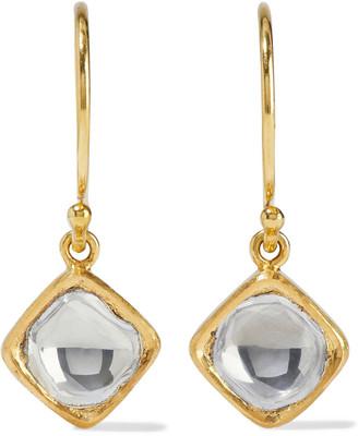 Amrapali Kundan Vintage 18-karat Gold Diamond Earrings