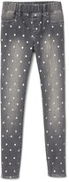 High stretch foil dot jeggings