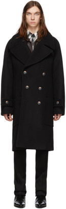 Givenchy Black Long Double Breasted Coat