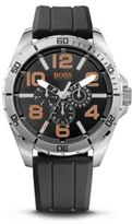 Hugo Boss 1512945 Chronograph Silicon Black Logo Strap Watch One Size Assorted-Pre-Pack