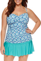 Liz Claiborne Pattern Tankini Swimsuit Top-Plus