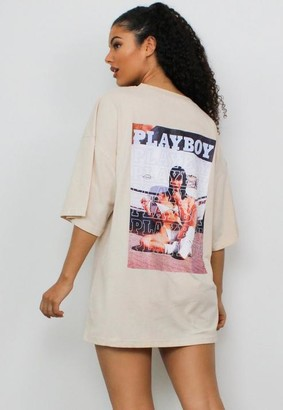 Missguided x Stone Text Graphic Pocket T Shirt