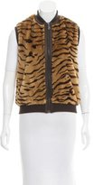 Mulberry Tiger Print Faux Fur Vest