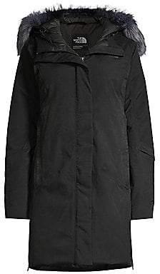 The North Face Women's Defdown Standard-Fit Faux Fur-Trim Nylon-Blend Down Parka