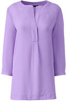 Lands' End Women's Petite 3/4 Sleeve Pullover Tunic-Frosted Lavender