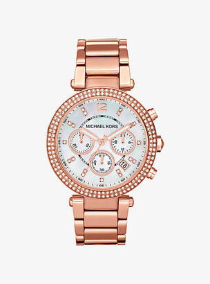 Michael Kors Parker Rose Gold-Tone Watch