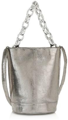 Nancy Gonzalez Small Jojo Metallic Lizard & Python Bucket Bag