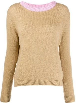 Avant Toi Contrast Neck Sweater
