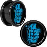 Body Candy Black Anodized Steel Grenade Screw Fit Plug Set of 2 18mm