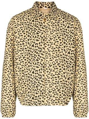 Gucci Leopard Print Coach Jacket