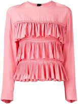 Marni ruffled long-sleeve blouse