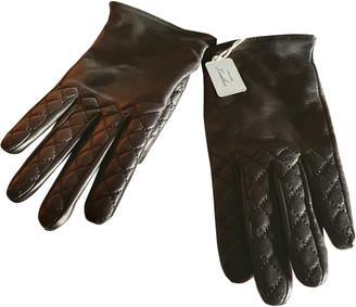 Club Monaco Black Leather Gloves