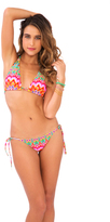 Luli Fama Sunkissed Laughter D/DD Cup Triangle Halter In Multicolor (L445073)