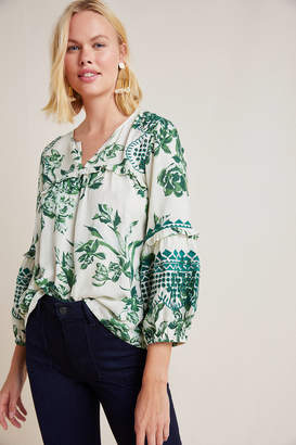 Vineet Bahl Margaret Ruffled Blouse