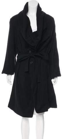 Ann Demeulemeester Cowl Neck Wool Coat w/ Tags