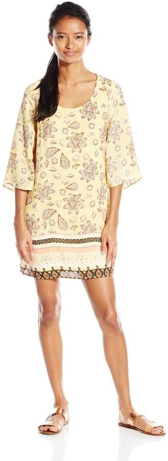 As U Wish Junior's Printed Lattice Back Shift Dress