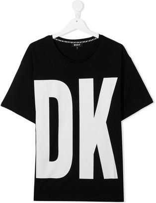 DKNY TEEN logo-print cotton T-shirt
